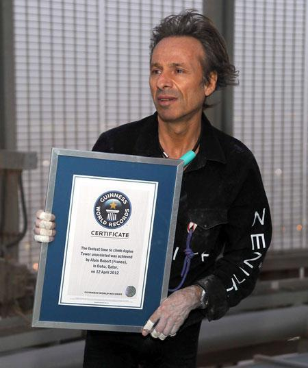 Alain Robert l homme araignee Guinness des Records conference seminaire escalade ascension