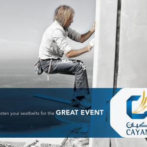 Great event Cayan group tower in Dubai Spiderman Alain Robert climber