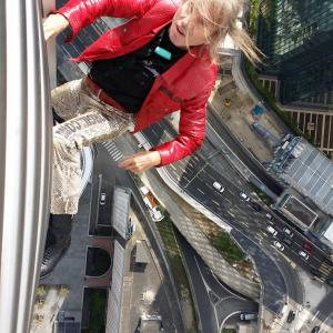 Tour first La Defense Paris France climb by Alain Spiderman Robert escalade gratte ciel