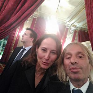 Segolene Royal Alain Robert Spiderman Elysee Paris