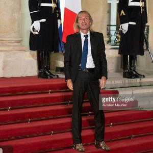 Alain Robert a l Elysee Paris invite par Francois Hollande