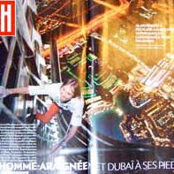 Paris Match Burj Khalifa Dubai climb by Spiderman Alain Robert escalade la plus haute tour du monde